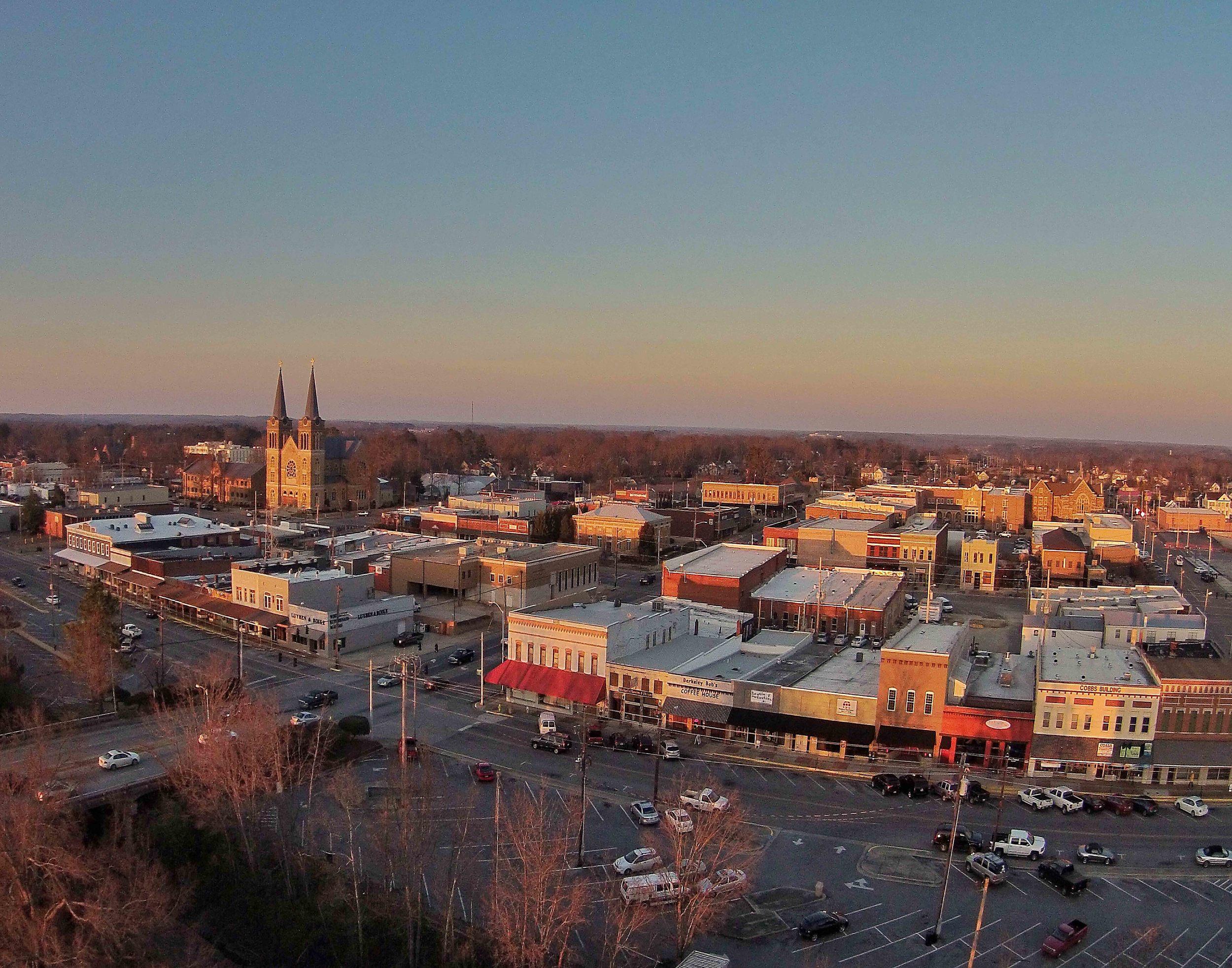 City of Cullman and Sacred Heart Church