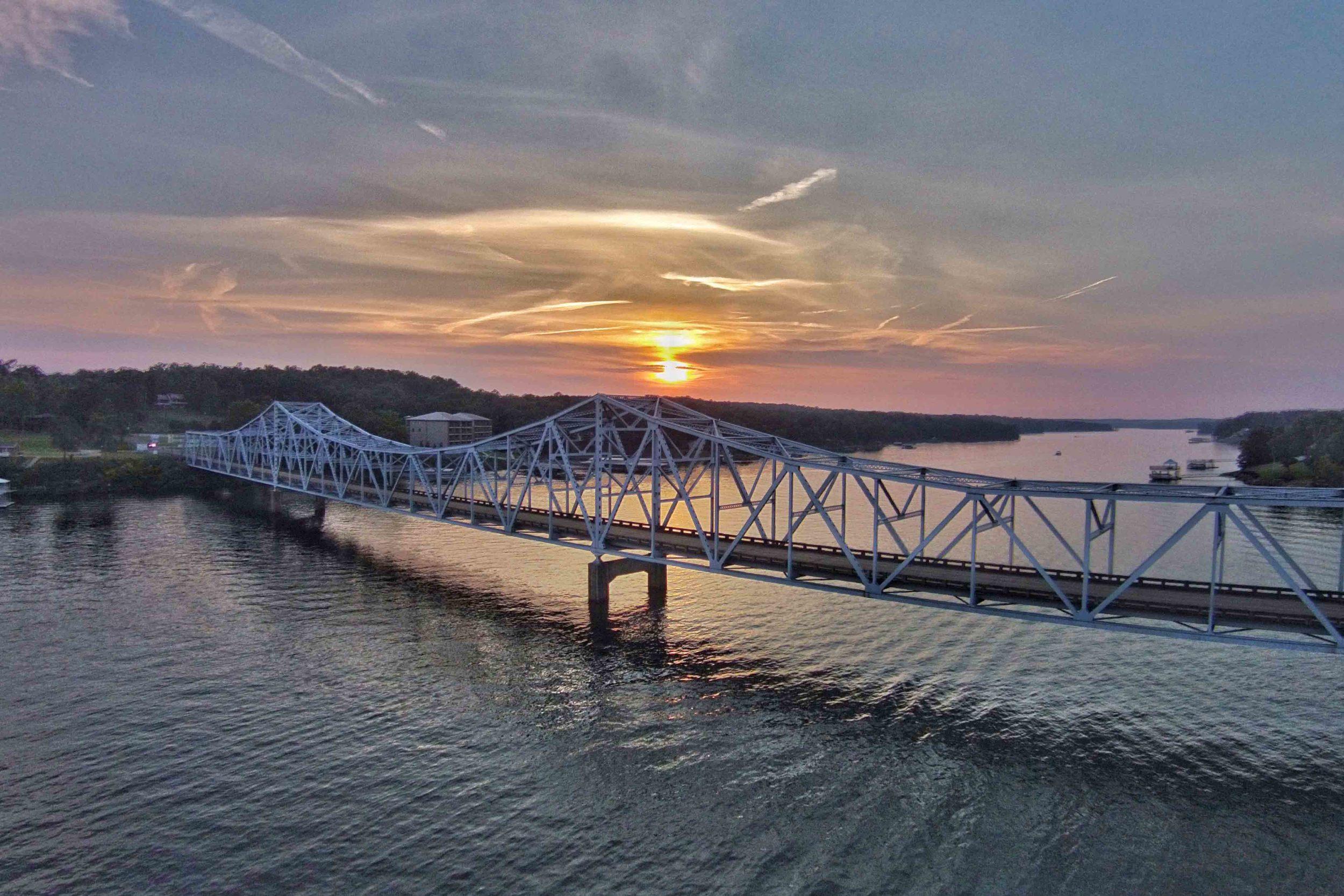 Sunset at Duncan Bridge on Lewis Smith Lake