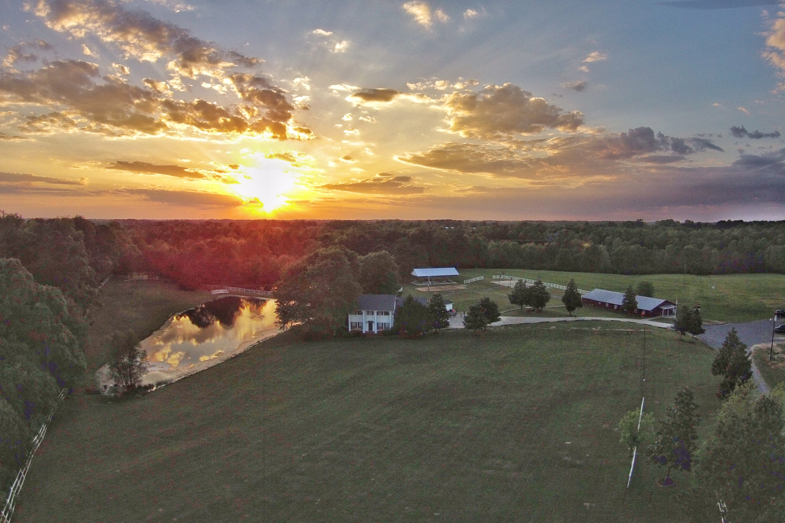 Sunset at The Foundry Farm