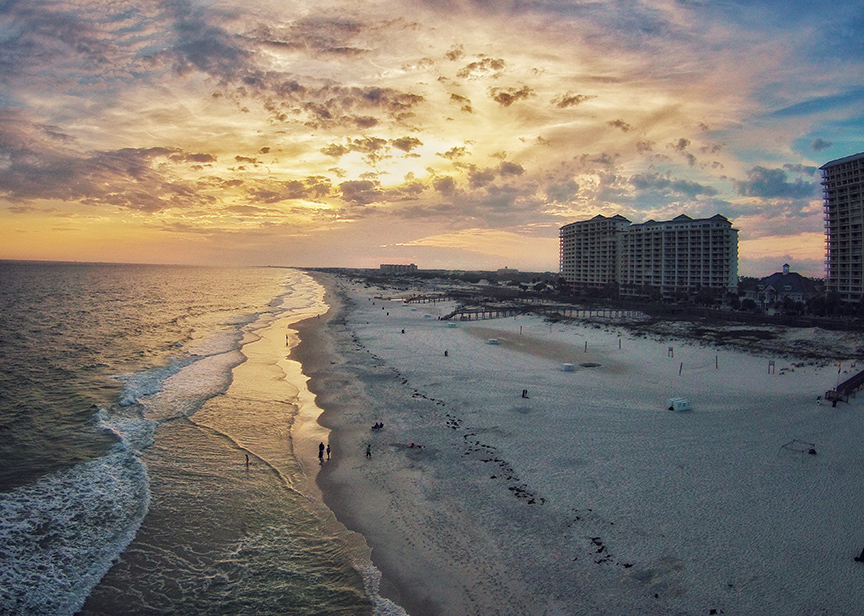 Sunset at the Beach Club in Gulf Shores, Alabama