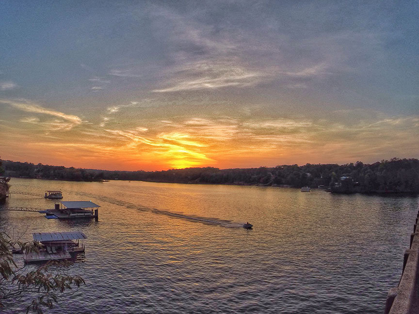 Smith Lake Sunset from Bailey Bridge