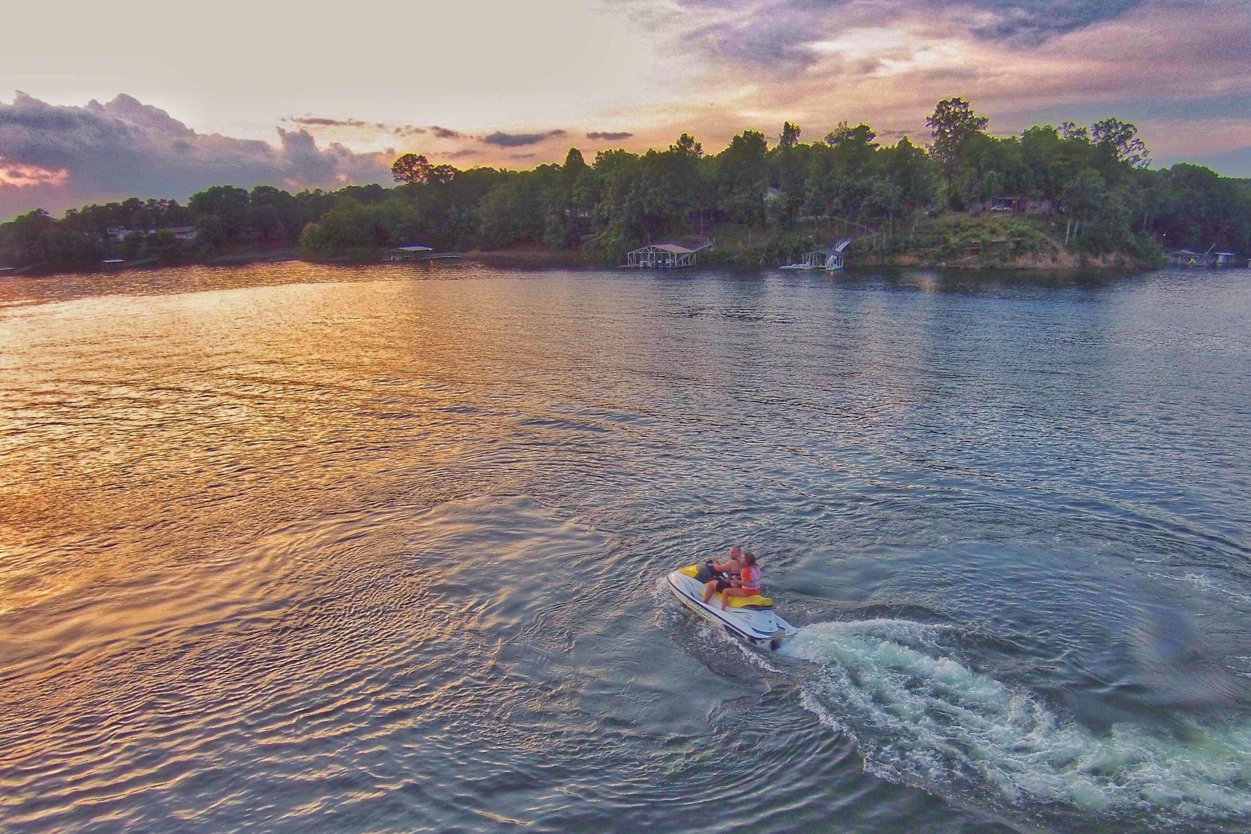 Sunset Jet Ski Ride on Smith Lake