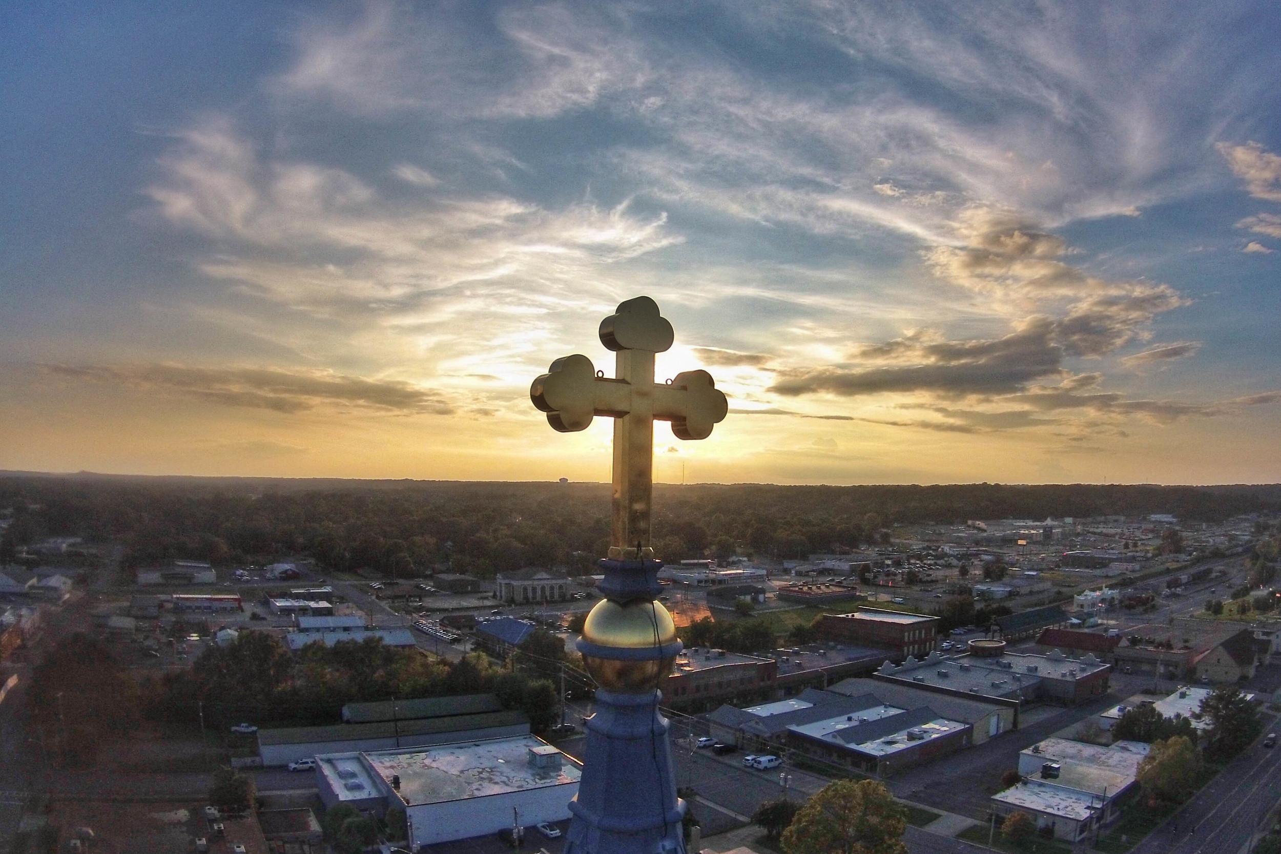 Sacred Heart Church, Alabama Aerial Photography