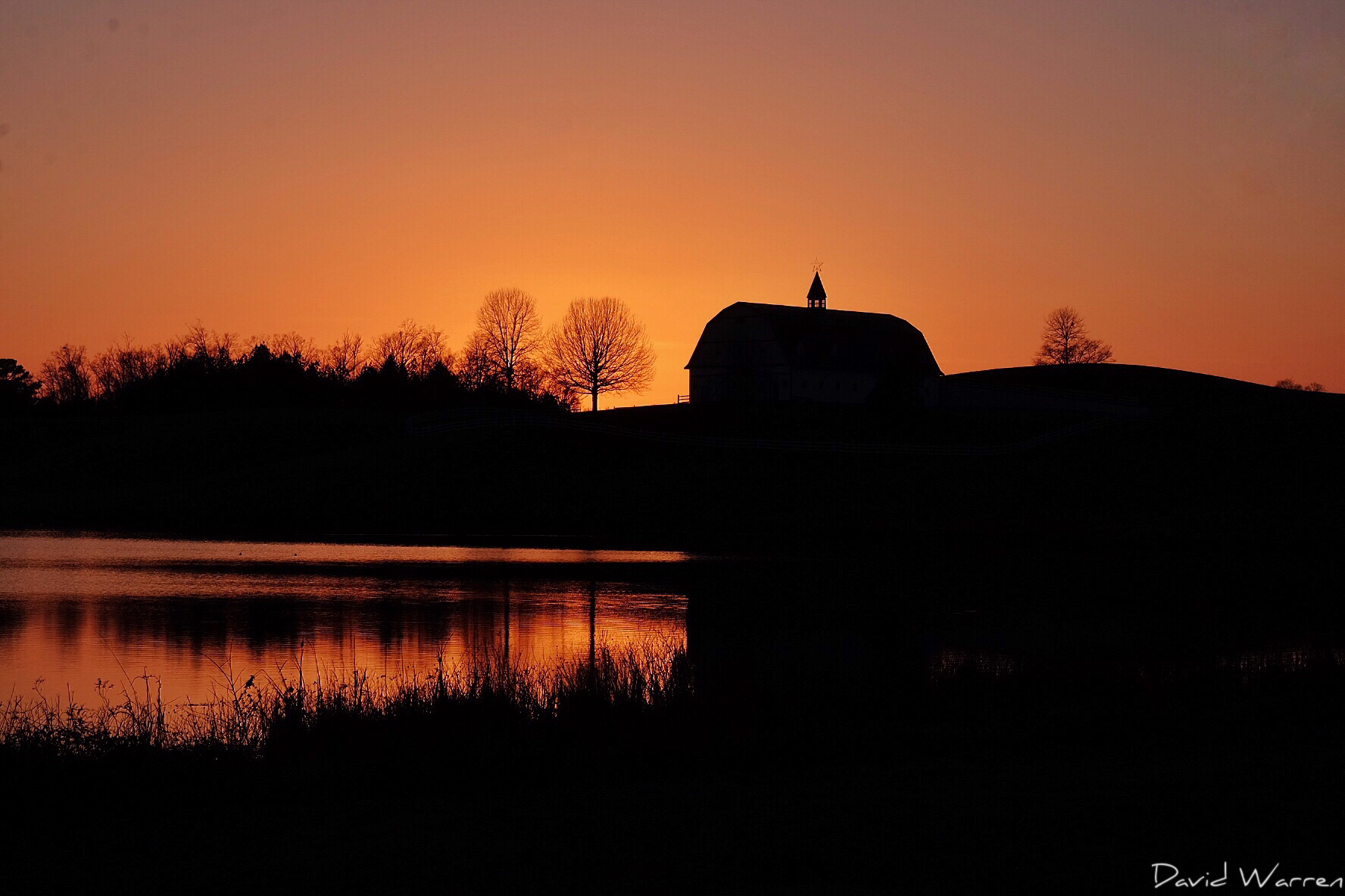 Sunset at The Hallmark Farm in Warrior