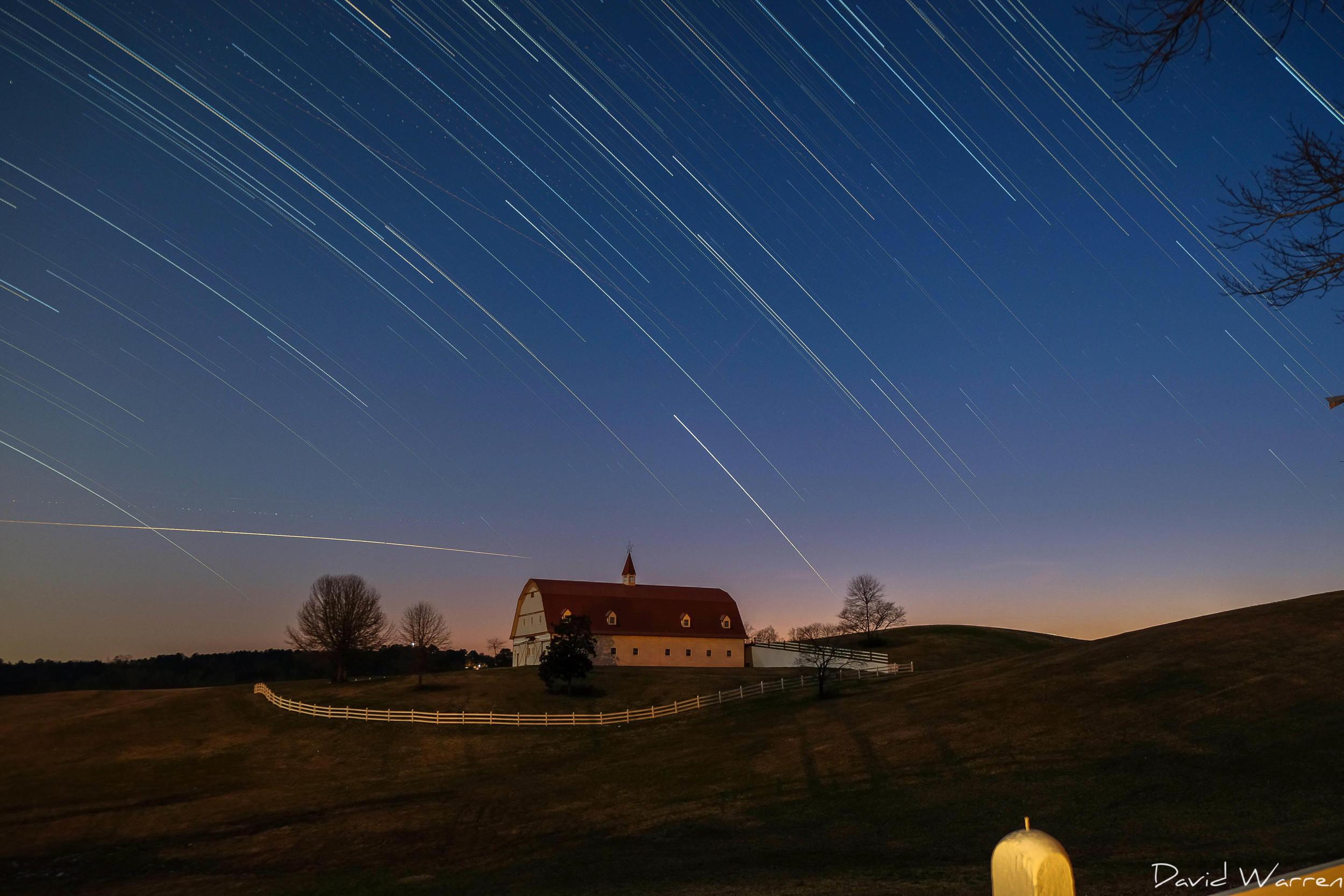 Star Trails over The Hallmark Farm in Warrior