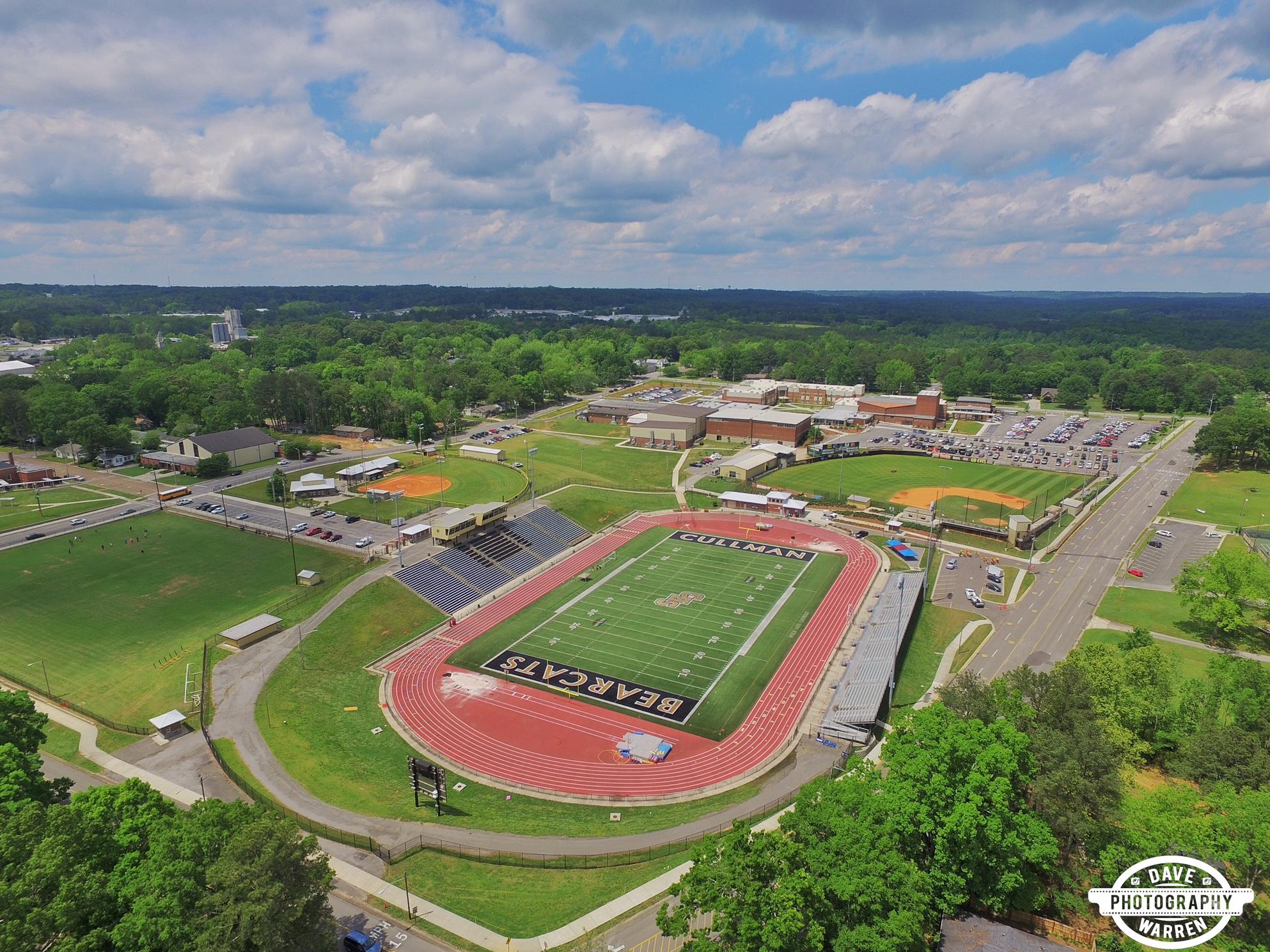 Cullman High School Alabama Aerial Photography