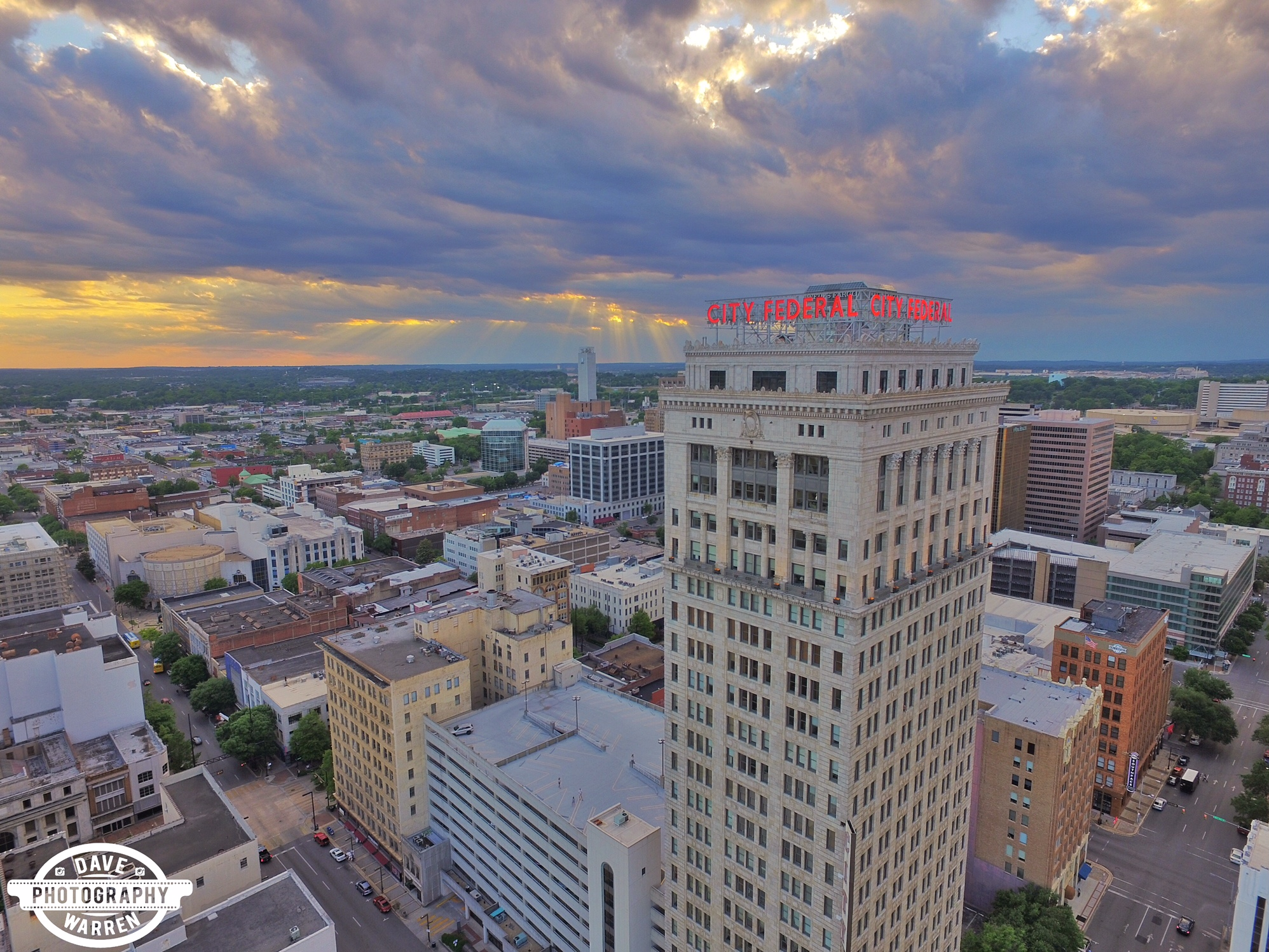 City Federal Birmingham Alabama Aerial Photography