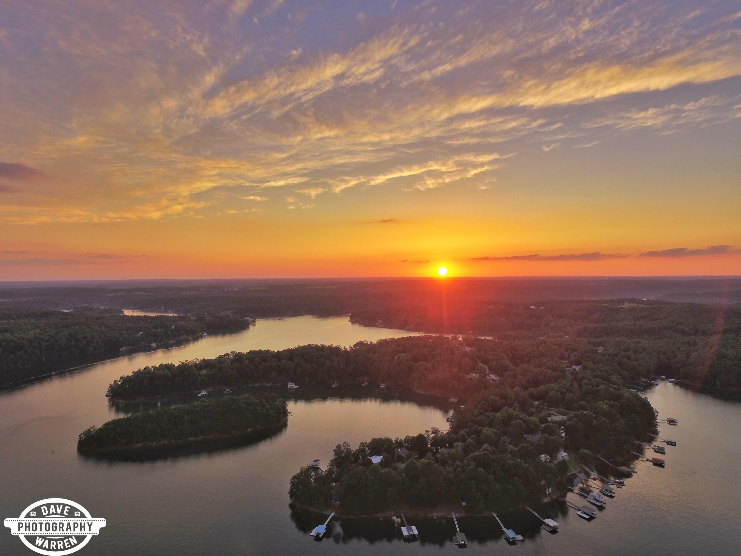 Sunset on Smith Lake