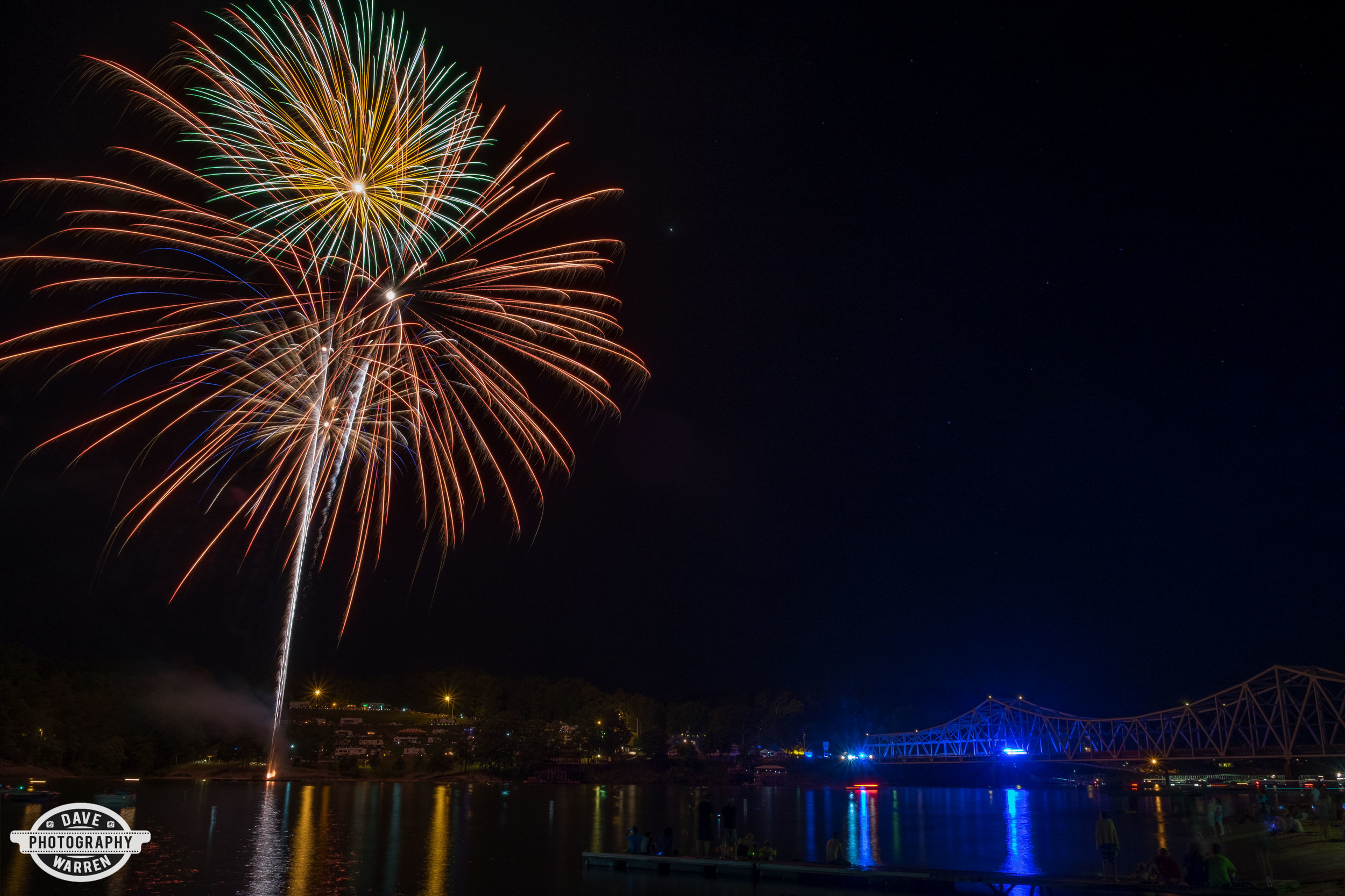 Fireworks at Duncan Bridge