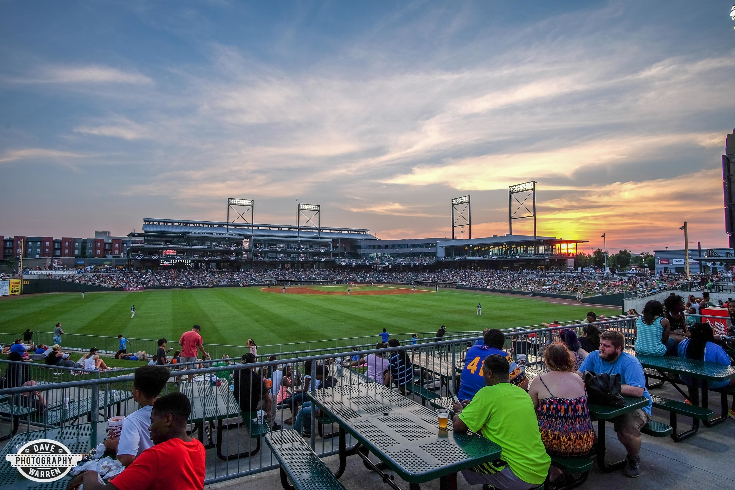 Sunset over the Birmingham Barons Game at Region's Park