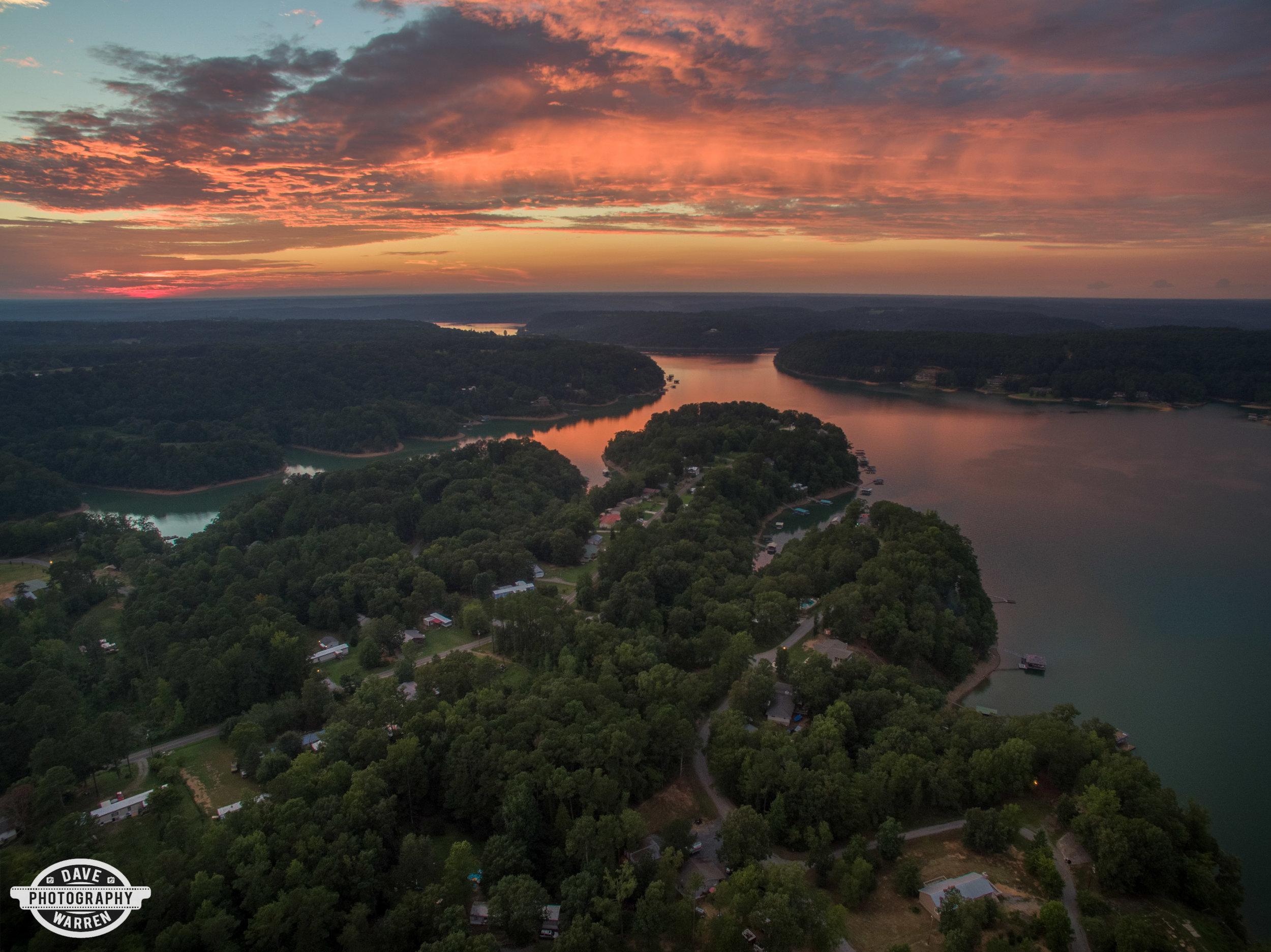 Sunset over Smith Lake