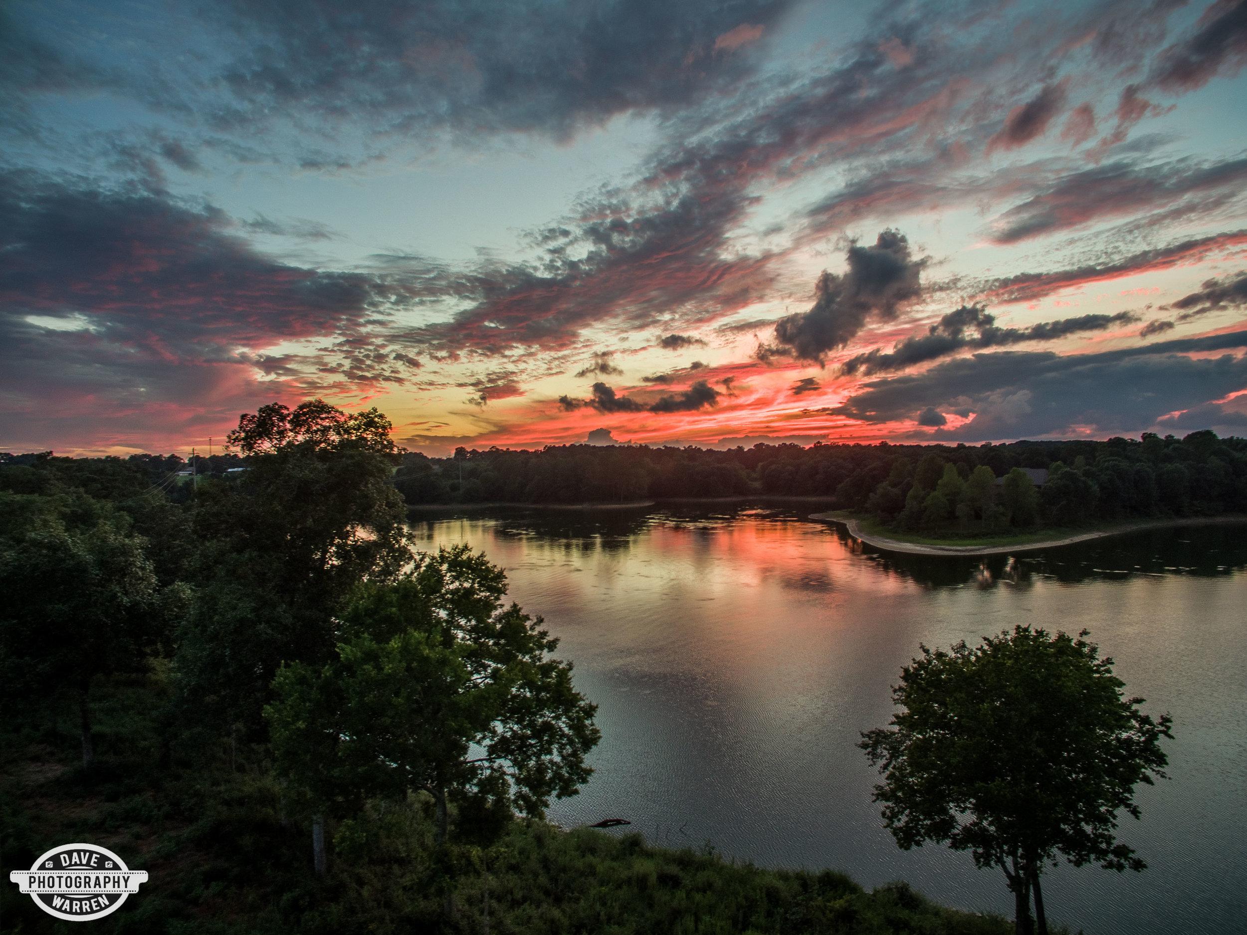 Sunset over Lake Catoma