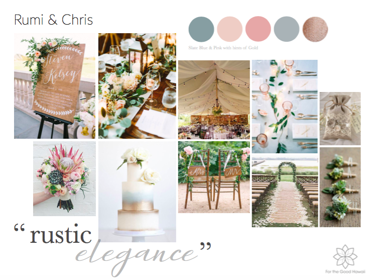 Style Guide created via Bride's wedding inspiration