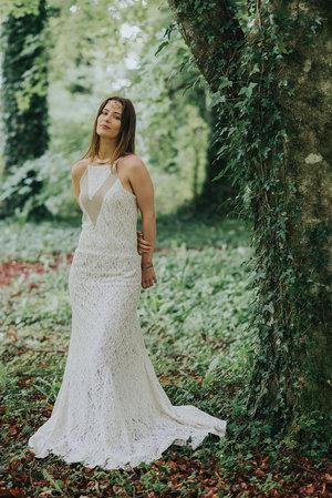 Irish Wedding Dress.Bohemian Wedding Dress Free Spirited Celtic Design