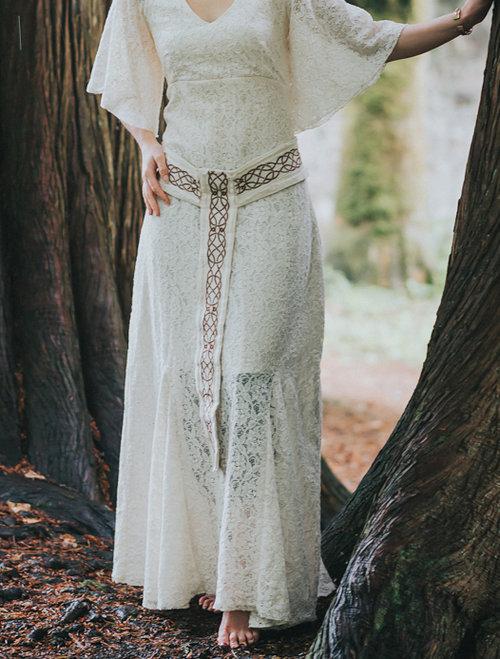 Pagan Wedding Dresses.Celtic Knotwork Wedding Belt Free Spirited Celtic Design