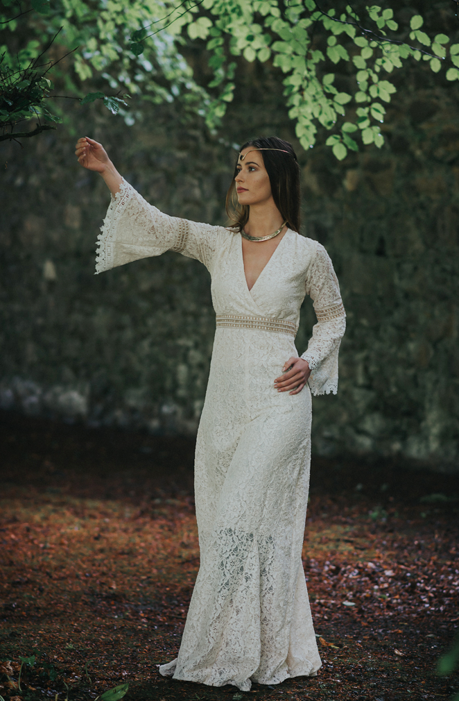 Folk Style Wedding Dress