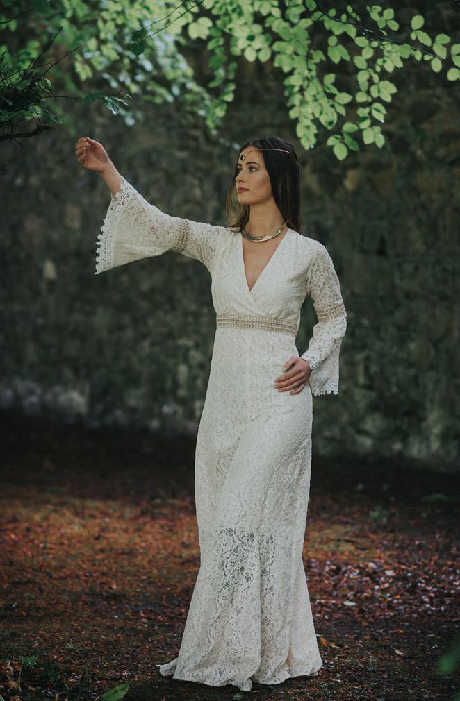 Folk Style Wedding Dress