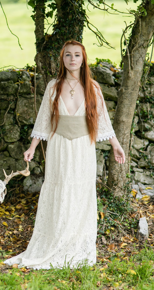 Pagan Wedding Dresses.Divinity Pagan Handfasting Wedding Dress Free Spirited Celtic Design