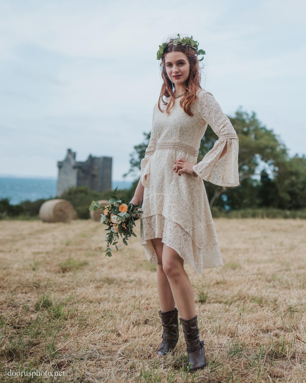 short funky wedding dresses