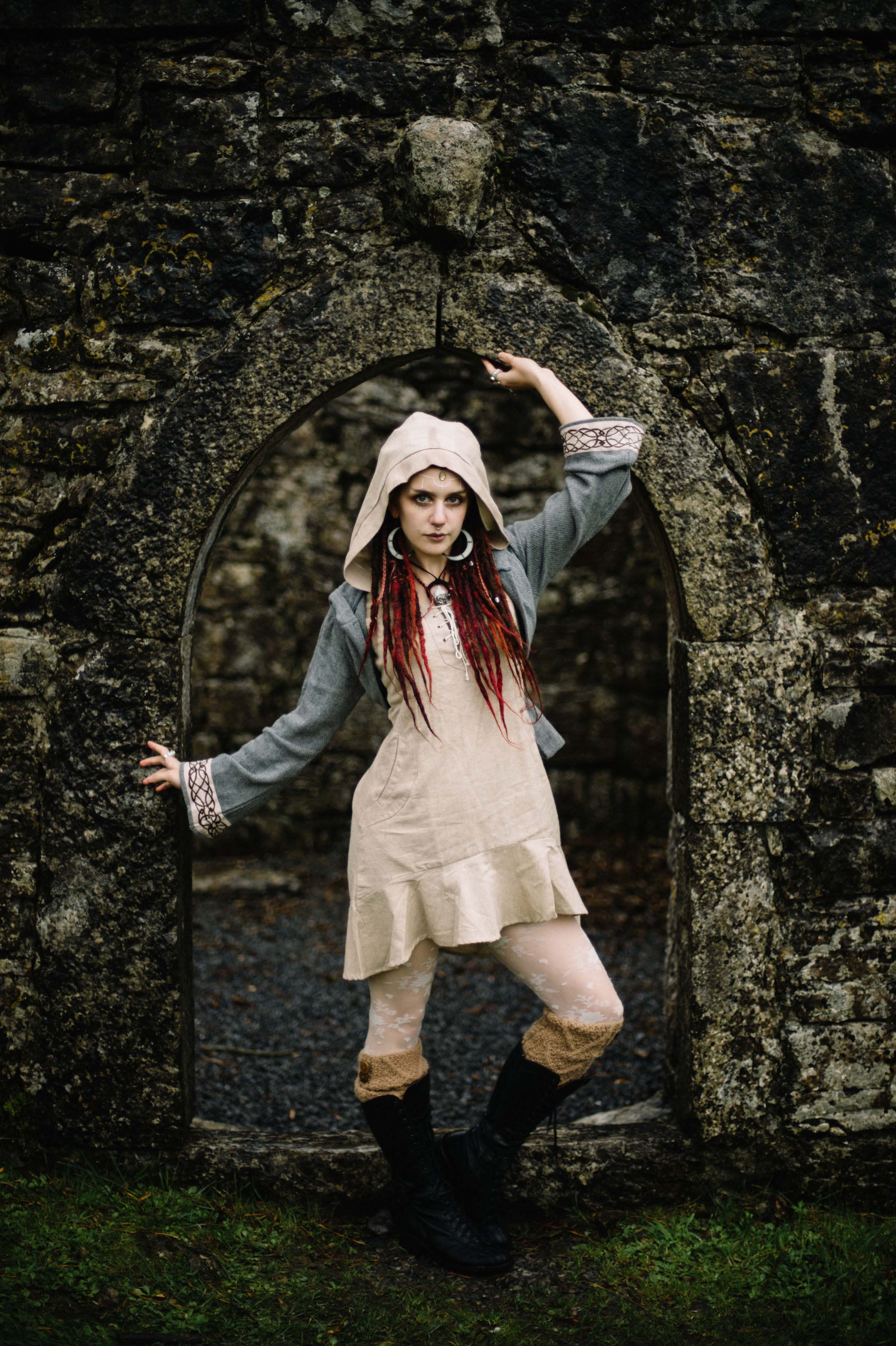 Styling celtic fusion folk style dress
