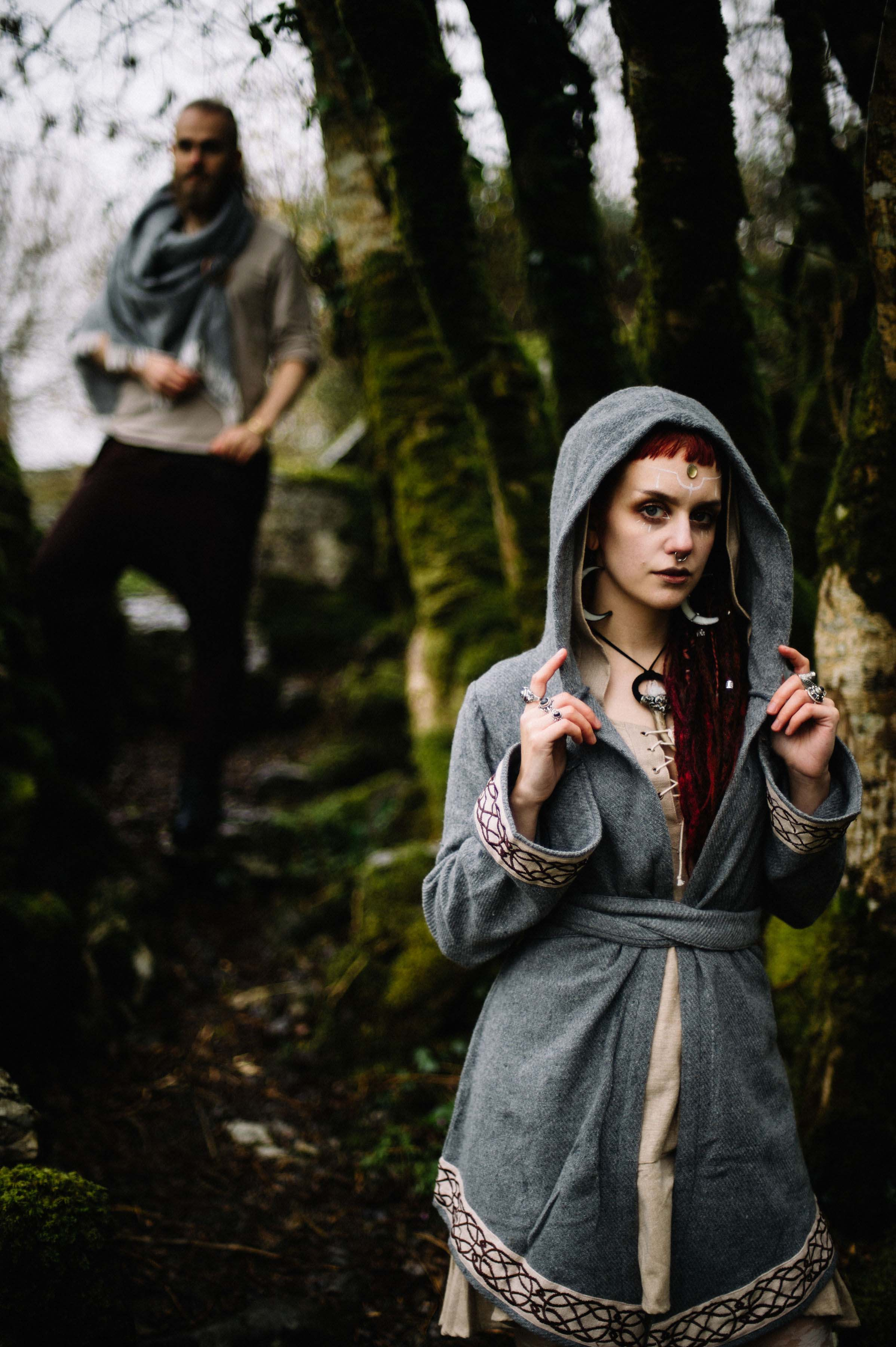 Leon and Manic moth in the mossy landscape of Temple Cronan