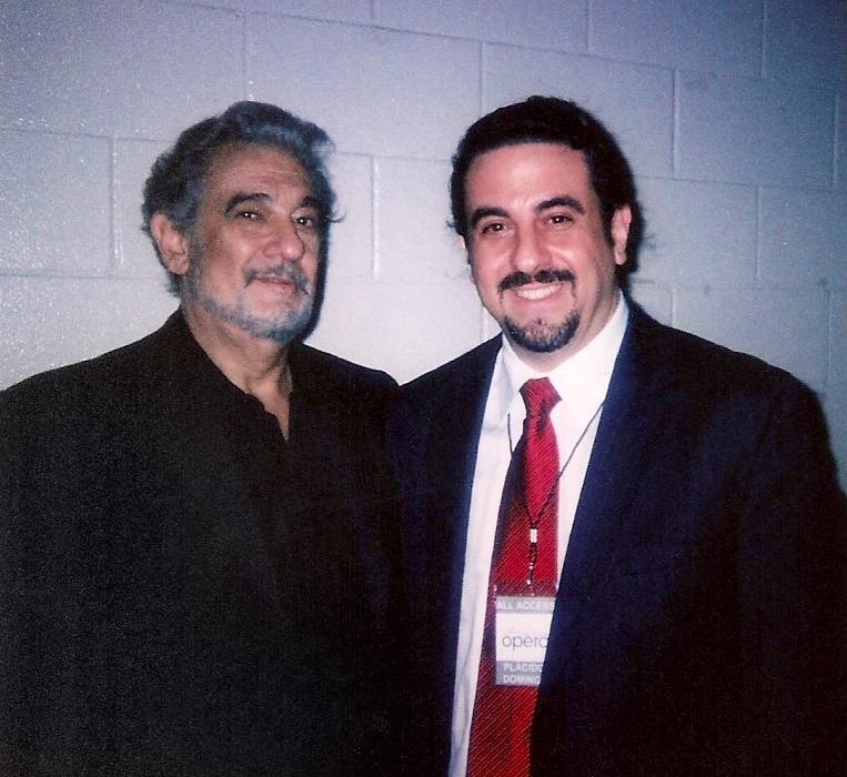 With Placido Domingo at the San Antonio Opera