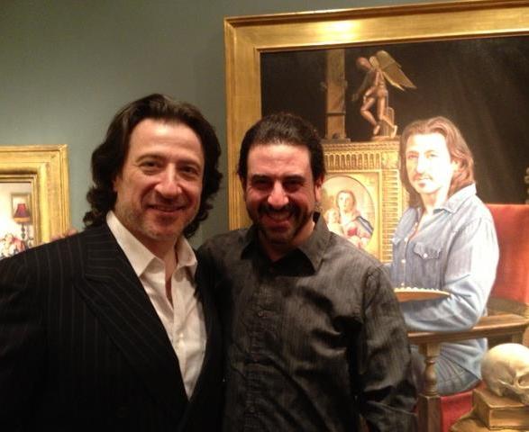 With artist/actor Federico Castelluccio