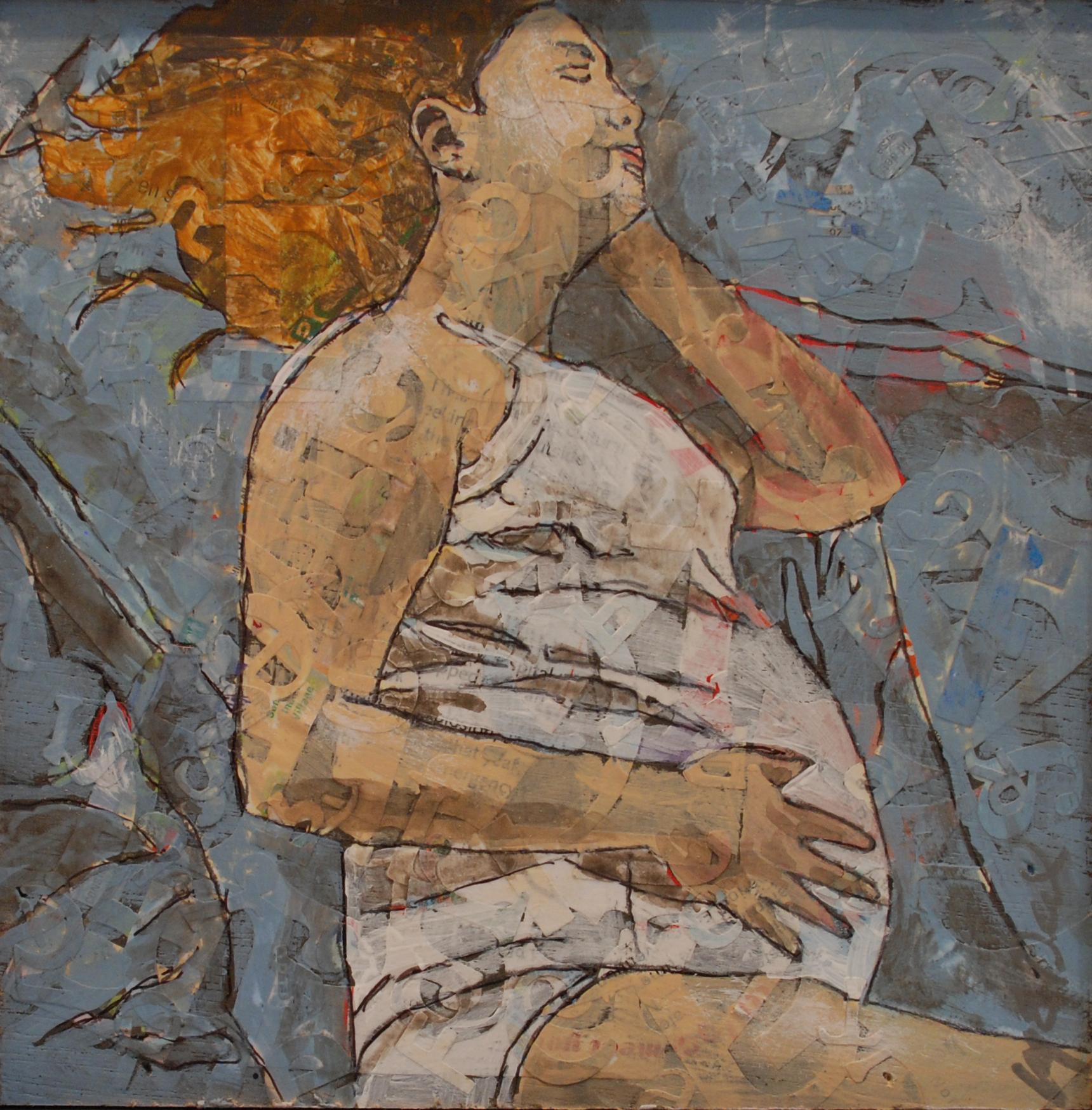 "Siesta (9"" x 9"" including black gallery frame)"