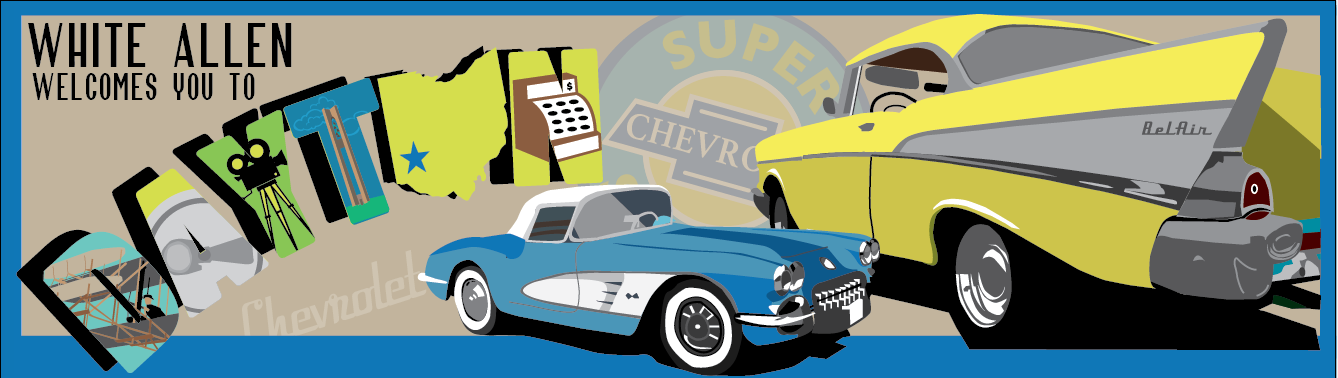 The client was truly wonderful to work with and had many ideas. We began with vintage Chevrolets.