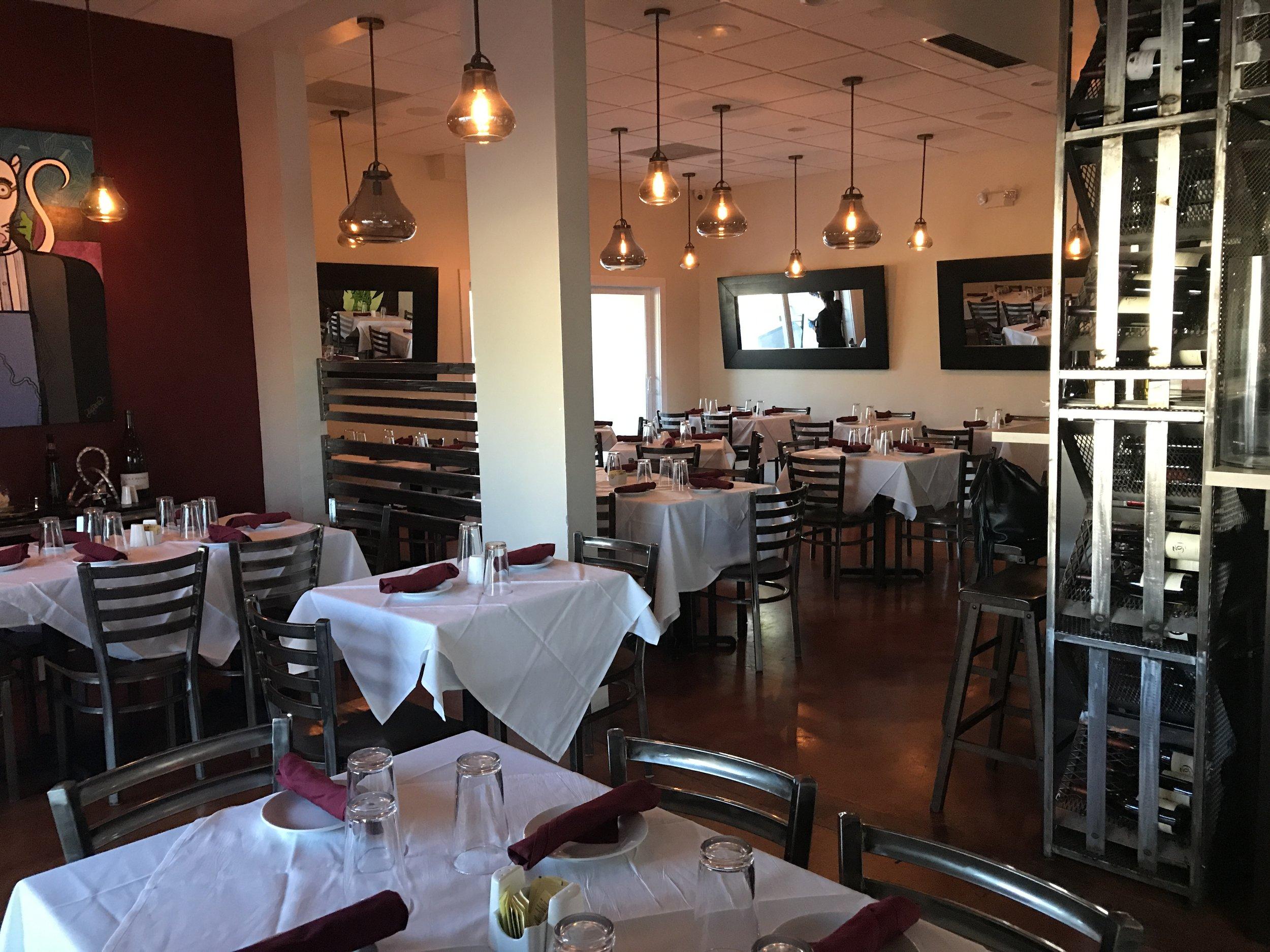 Inside Off The Mile Restaurant