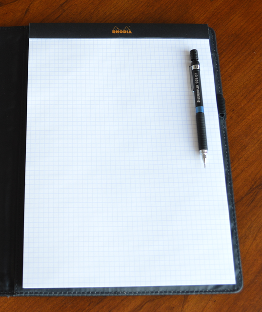 Rhodia Notepad with Staedtler 925 Drafting Pencil