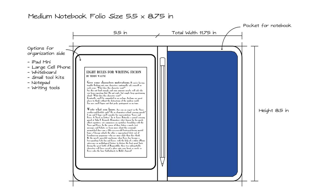 Medium Notebook Folio Design