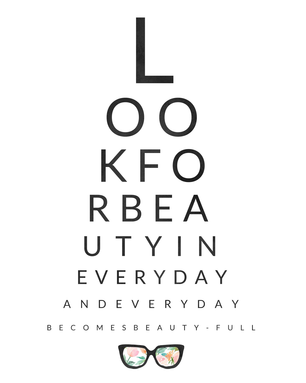 Look For Beauty Eye Chart