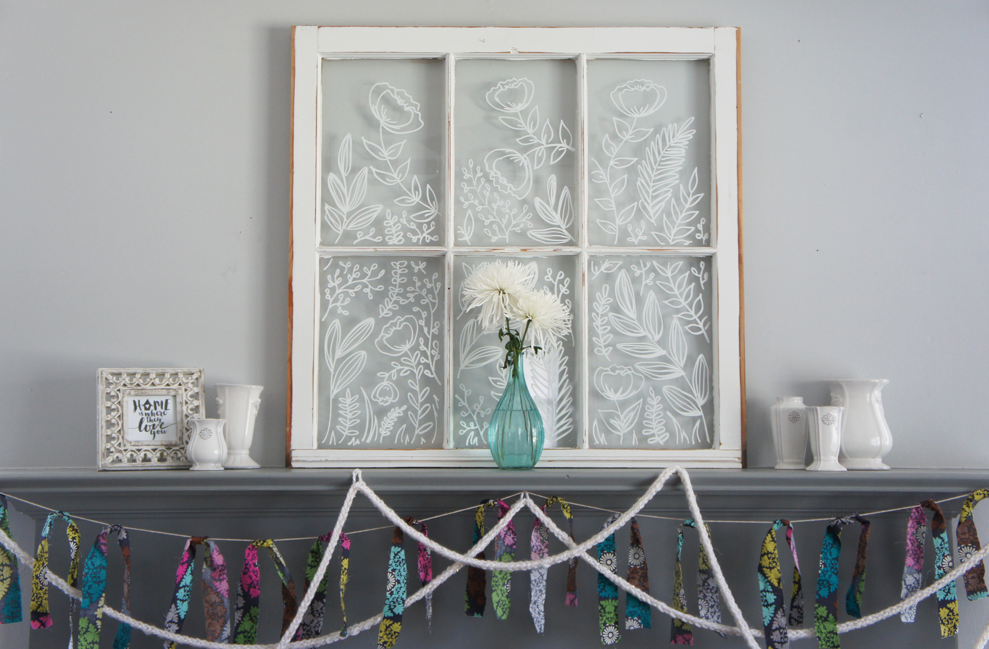 The finished window and painted and pretty!