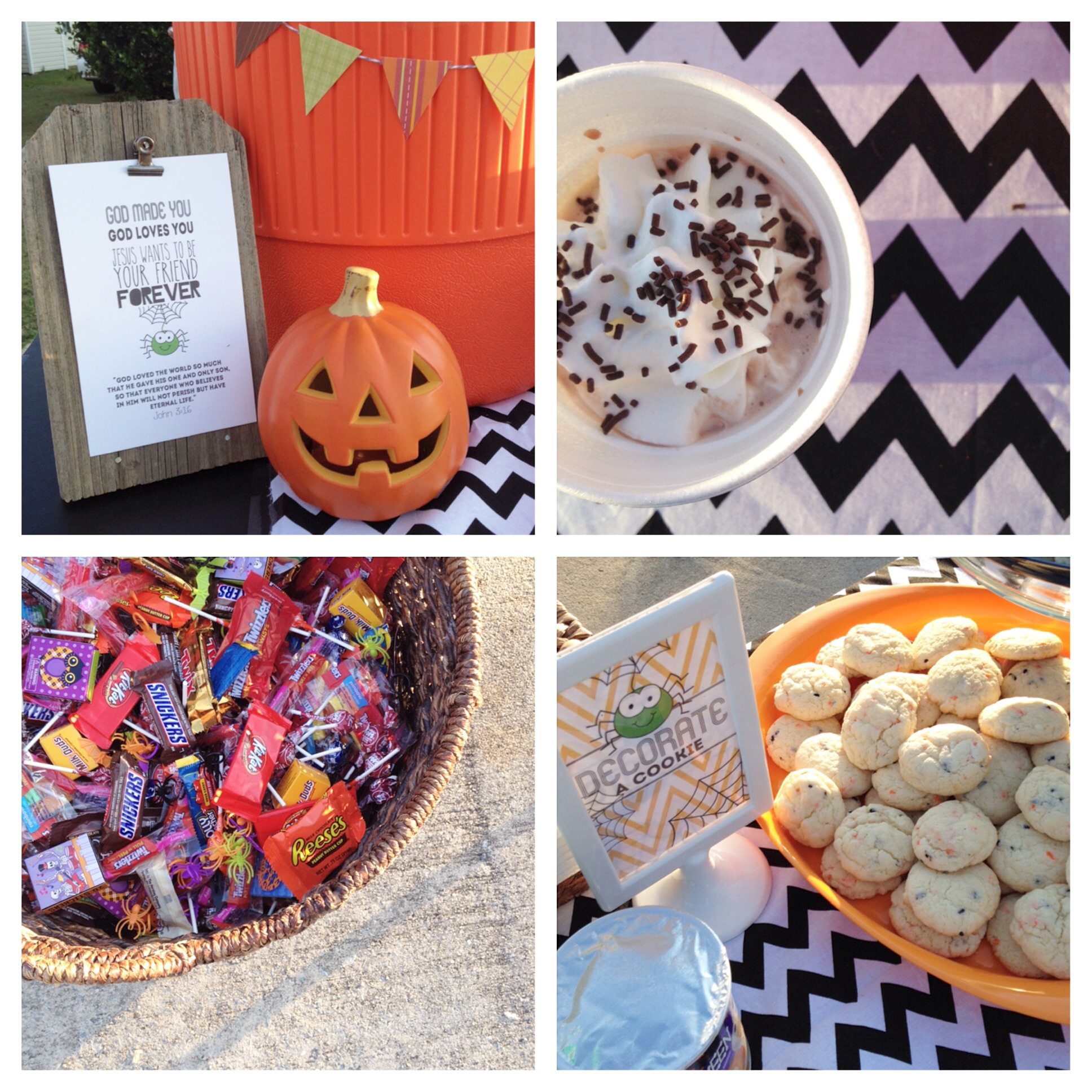 """Pics from last year. We even had a little """"decorate a cookie"""" station."""