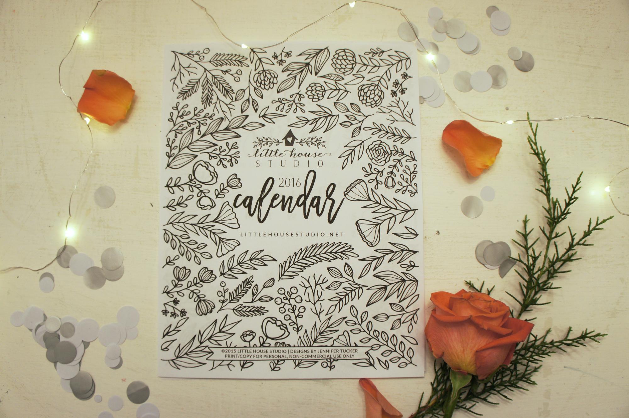 2016 Calendar - Little House Studio
