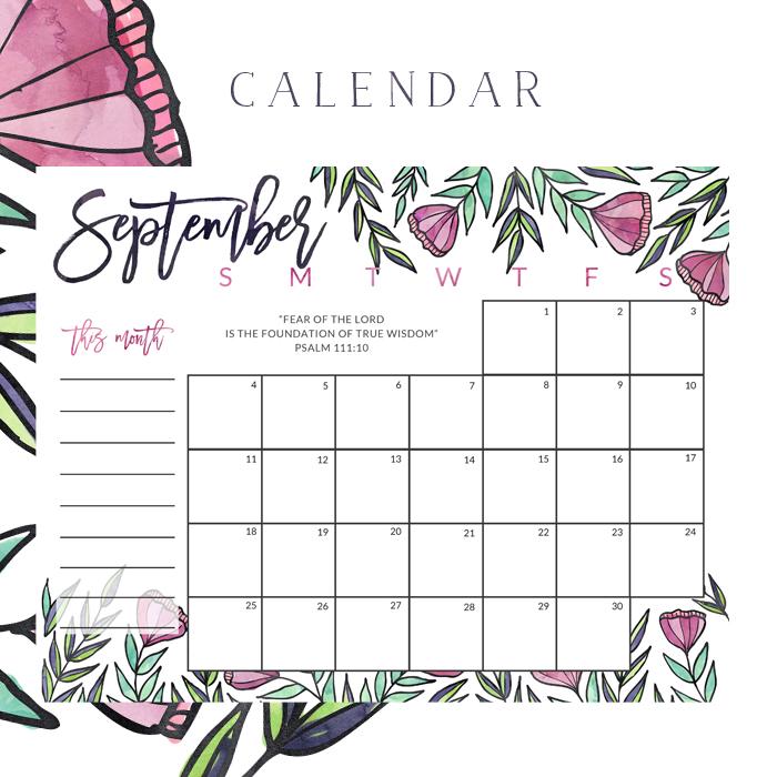 Subscriber Freebie | Calendar | Little House Studio