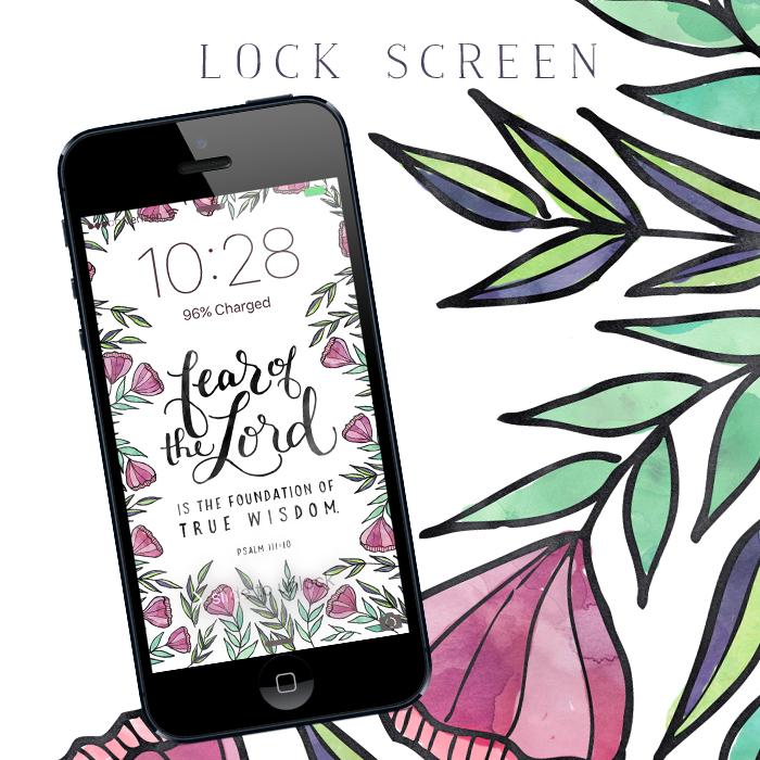 Subscriber Freebie | Lock Screen | Little House Studio