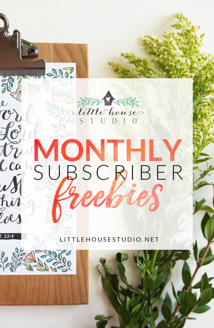 Get a Bundle of Freebies Every Month When You Become a Little House Studio Subscriber! | LittleHouseStudio.net
