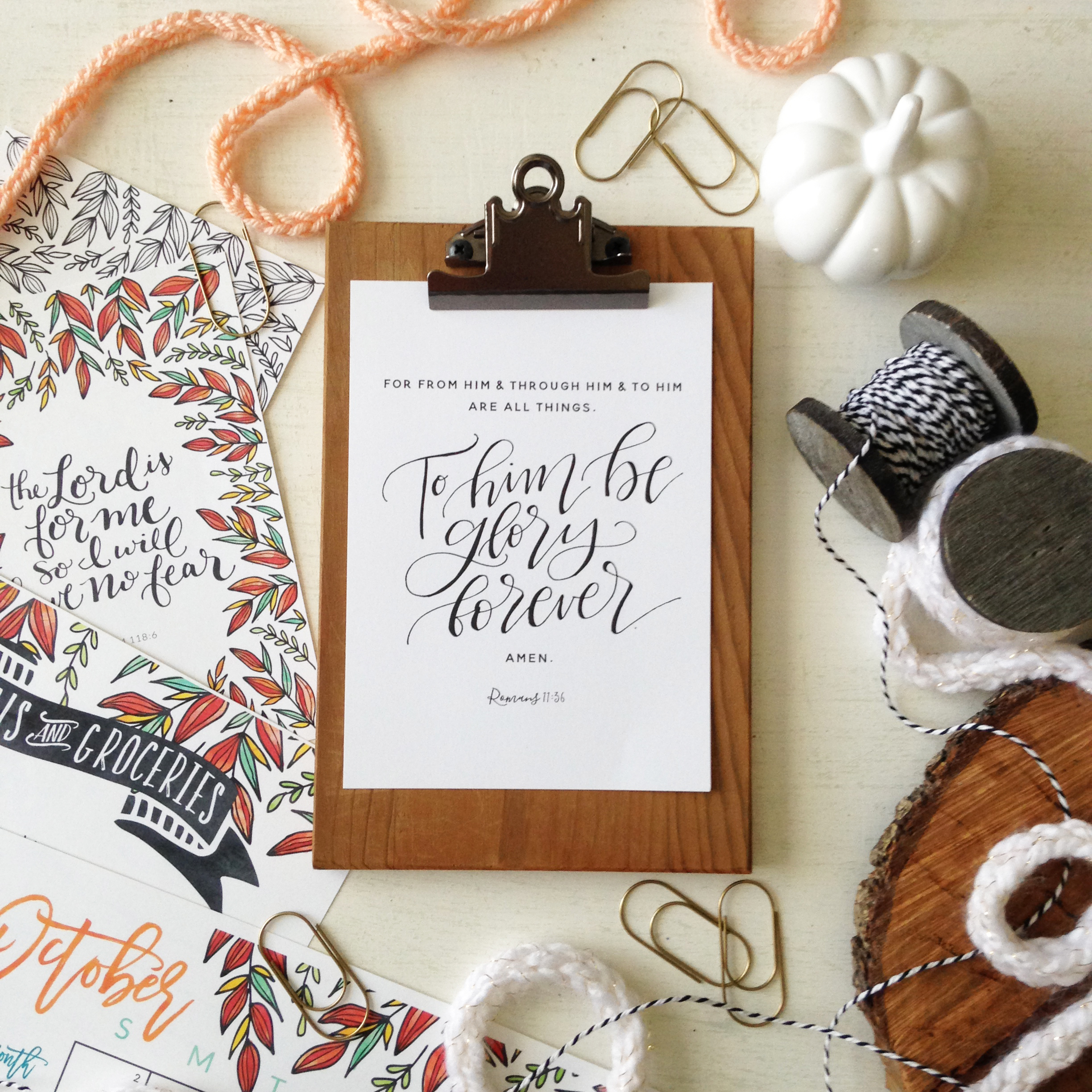 Free Monthly Printables from Little House Studio