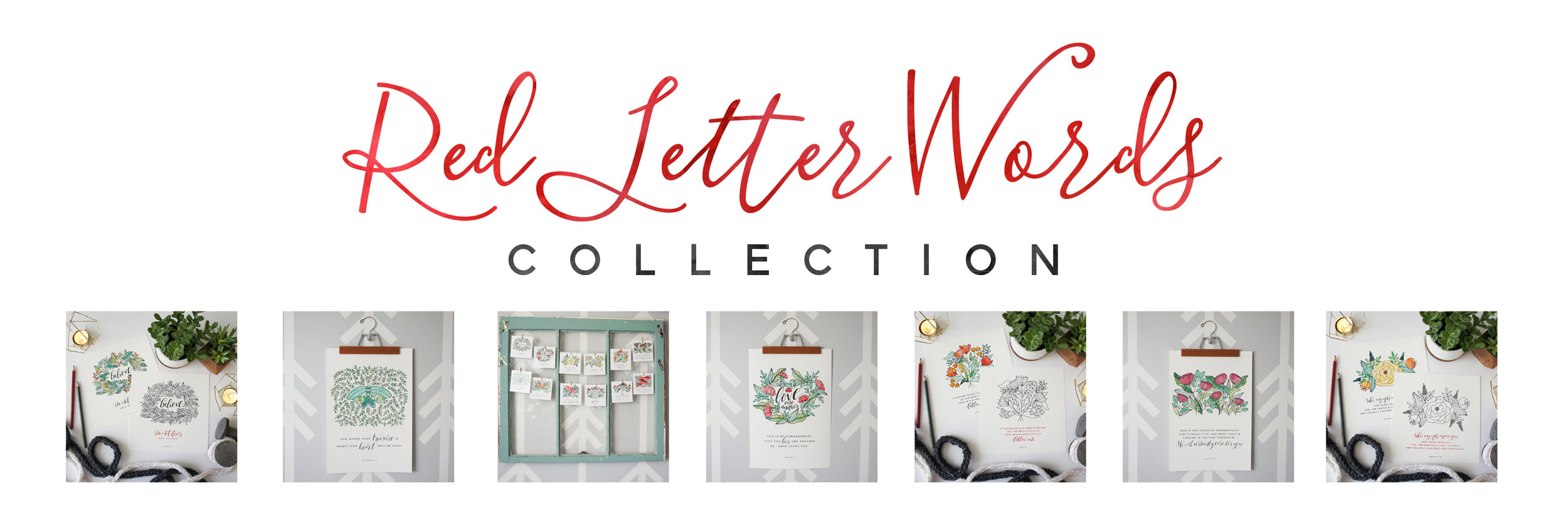 Red Letter Words Collection || Little House Studio