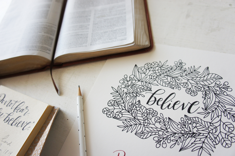 Red Letter Words Bible Study Week One: Believe