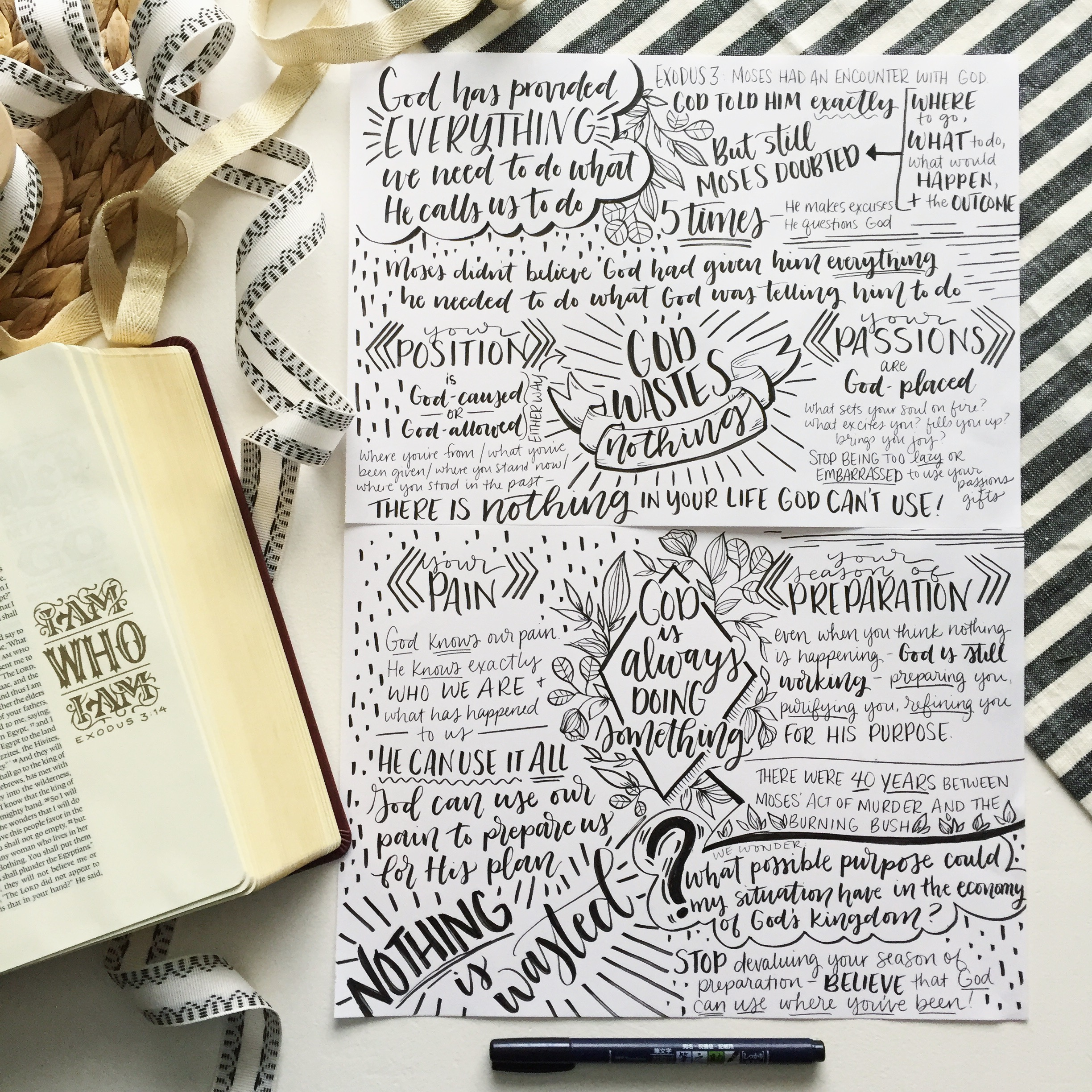 Notes taken at the Women's Conference at our church last year, words spoken by one of my favorites,  Chrystal Evans Hurst