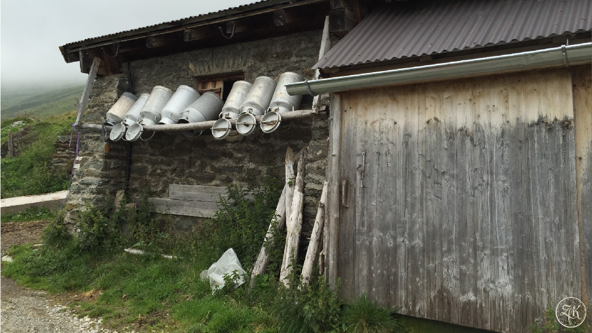 Bergbauernidylle in Österreich
