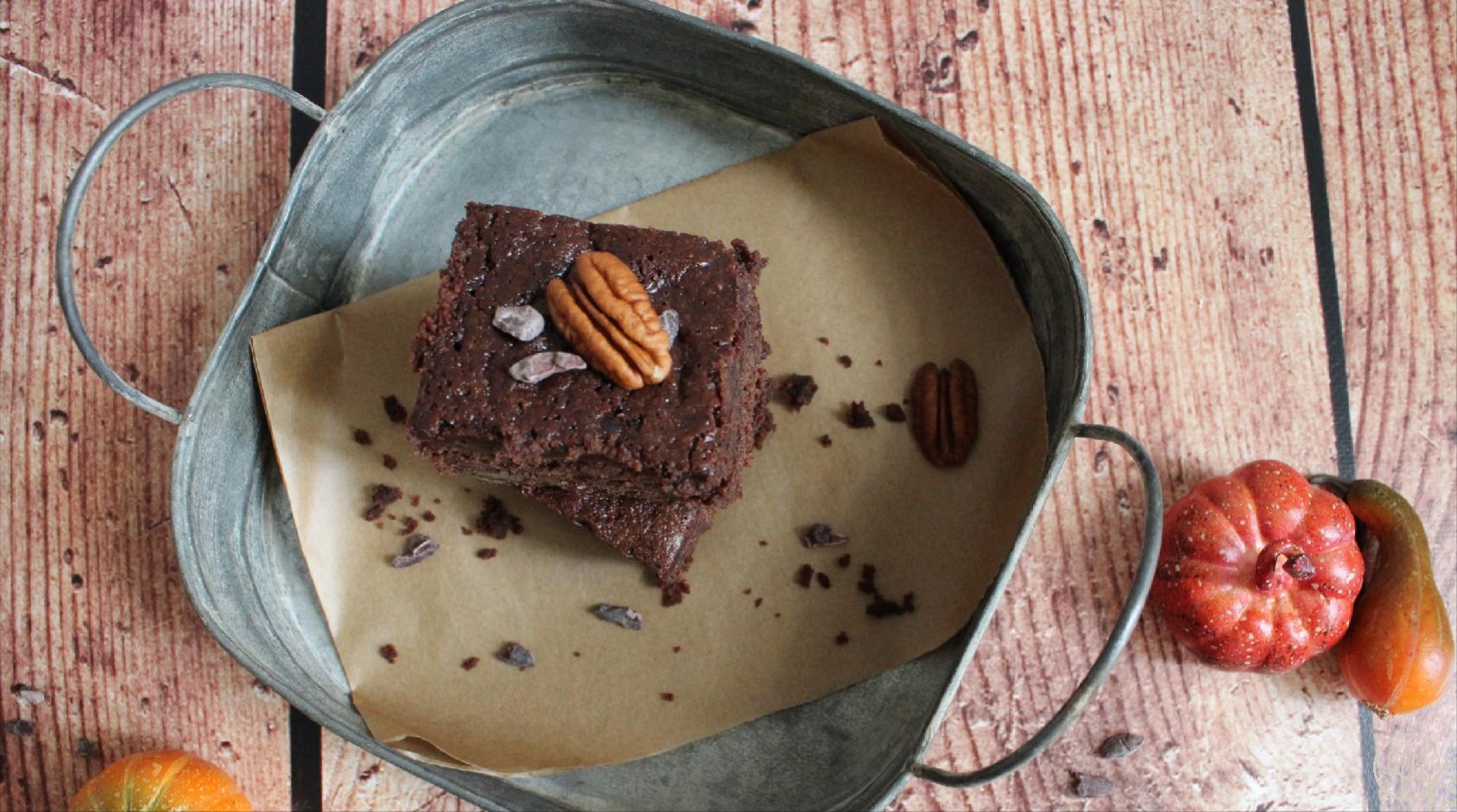 Schoko-Malzbier-Brownies