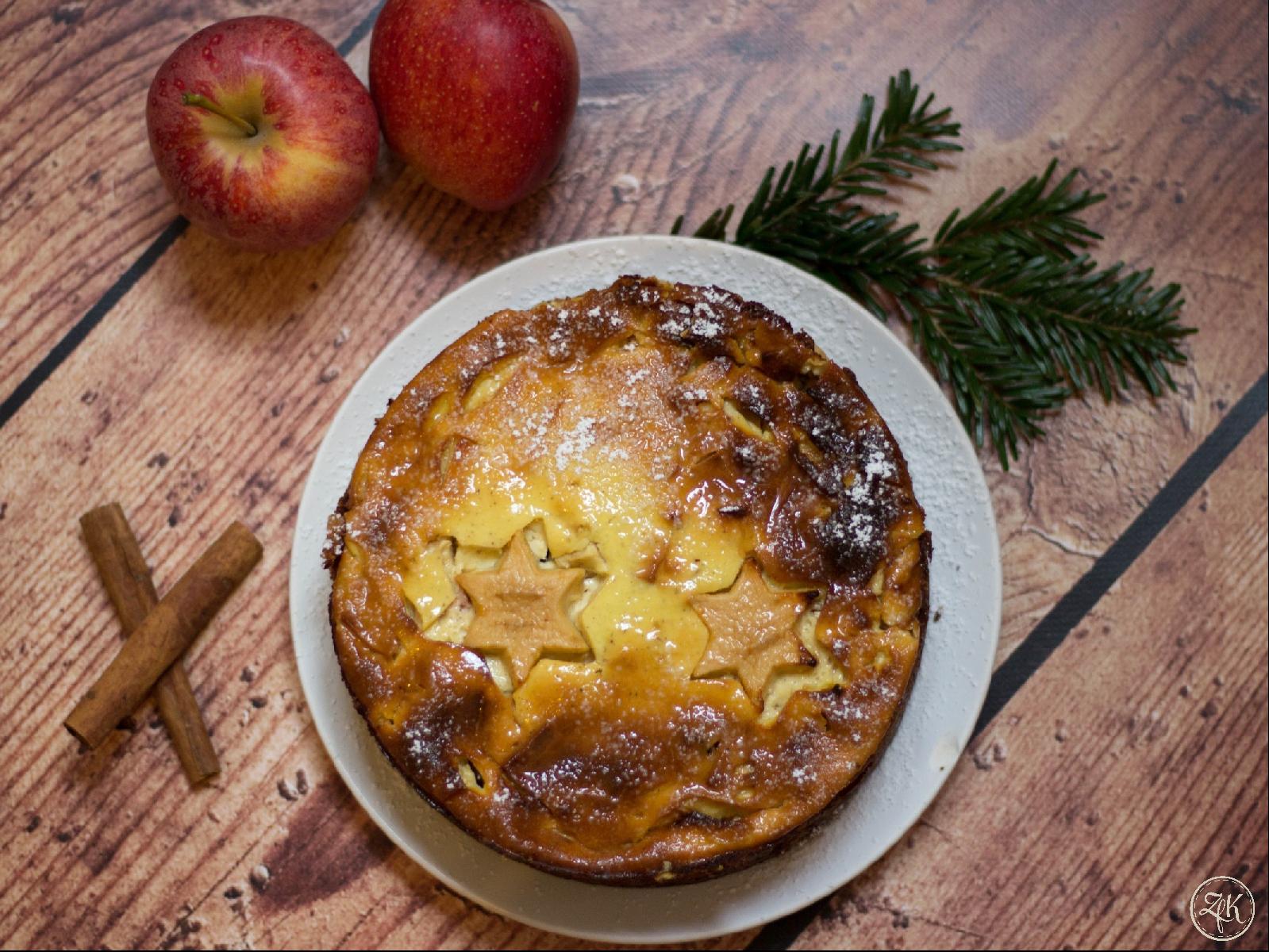 Winterlicher Apfel-Käse-Kuchen
