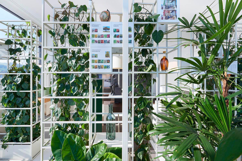 "Showroom, Gartenhochhaus ""Aglaya"", Detail Metallkonstruktion, vertical garden, Zug Estates AG"