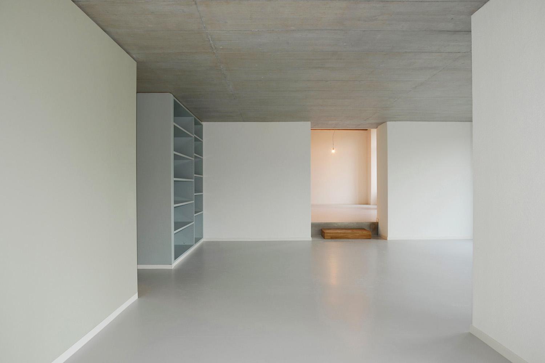 Ausbau, Musterloft, Wohnzimmer, Einbauregal