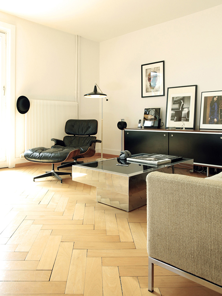 Home Staging, Wohnzimmer nachher, Sessel Eames Lounge Chair