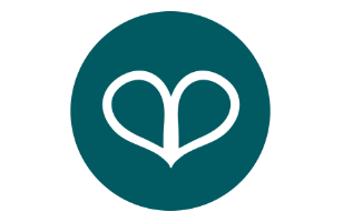 Heart positivity icon, relaxation and wellbeing for the mind and body